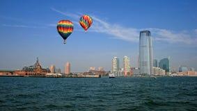 The Jersey City skyline Stock Photo