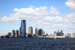 The Jersey City Skylines. By Hudson River Stock Photo