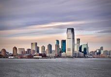 Jersey City sul Hudson fotografia stock libera da diritti