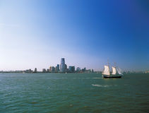Jersey City on a sunny day. Royalty Free Stock Images