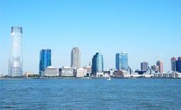 Jersey- CitySkyline Lizenzfreie Stockfotos