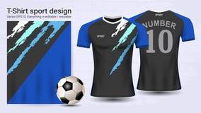 Jersey de fútbol y plantilla de la maqueta del deporte de la camiseta libre illustration