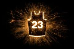 Jersey 23 di pallacanestro in scintille Immagine Stock