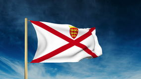 Jersey flag slider style. Waving in the win with