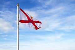 Jersey Flag (UK) Royalty Free Stock Photo