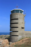 Jersey, German watch tower and bunker near La Corbiere Stock Photography