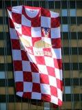 Jersey de equipo de fútbol nacional croata Fotos de archivo