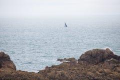 Jersey-Inselsegelschiff lizenzfreie stockbilder