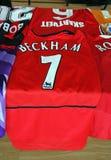 Jersey original del fútbol de Beckham Fotografía de archivo