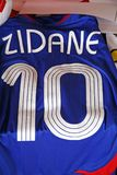 Jersey original del fútbol de Zidane, 1 Imágenes de archivo libres de regalías