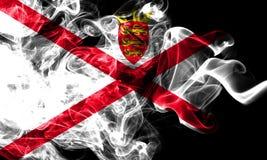 Jersey rökflagga, Förenade kungariket beroende territoriumflagga royaltyfri bild