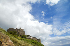 Jersey's Mount Orgueil castle and sky Stock Photography