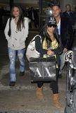 Jersey Shore actors Snooki and Jenni at LAX Stock Image