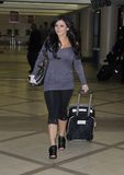 Jersey Shore actress Jenni at LAX Royalty Free Stock Photography