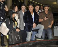 Jersey Shore cast at LAX Royalty Free Stock Images