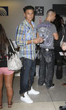 Jersey Shore castmate DJ Pauly D is seen at LAX Royalty Free Stock Photo