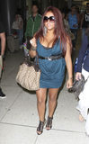 Jersey Shore castmate Snooki is seen at LAX Stock Photography