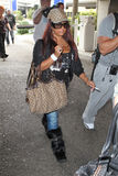 Jersey Shore star snooki at LAX Stock Photography