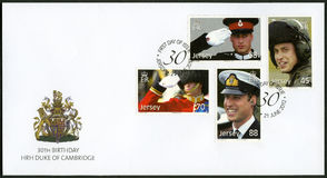 JERSEY - 2012: shows William Arthur Philip Louis, Prince William, Duke of Cambridge, 30th Birthday Stock Images