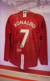Jersey of soccer star Christiano Ronaldo of Manchester United Royalty Free Stock Photo