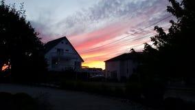 Jersey solnedgång Fotografering för Bildbyråer