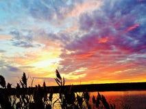 Jersey-Ufer-Sonnenuntergang stockfoto