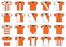 Jerseys del balompié Imagen de archivo libre de regalías