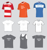 Jerseys templates set Stock Photos