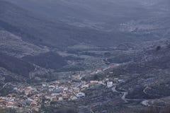 Jerte dolina od Tornavacas punktu widzenia Czereśniowy okwitnięcie Wiejski Sp Obrazy Royalty Free