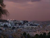 Jerusaelm в поздно вечером стоковые фото