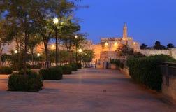 Jerusalém da noite Fotos de Stock Royalty Free