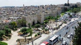 Jerusalém da porta de Damasco Foto de Stock