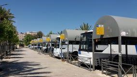 Jerusalém do leste da estação de ônibus central árabe Imagens de Stock