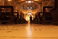 Jerusalém - a igreja do aviso foto de stock
