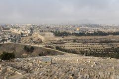 Jerusalém, Israel - 16 de dezembro de 2016: A cidade de David Fotos de Stock Royalty Free