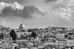 JERUSALÉM, ISRAEL - 17 DE DEZEMBRO DE 2016: Vista da abóbada da rocha Fotos de Stock Royalty Free