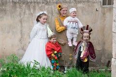 JERUSALÉM, ISRAEL - 15 DE MARÇO DE 2006: Carnaval de Purim no quarto ultraortodoxo famoso do Jerusalém - Mea Shearim Fotos de Stock Royalty Free