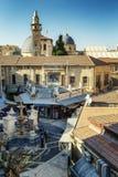Jerusalém, Israel 09/11/2016: Ideia superior do quadrado na cidade velha foto de stock