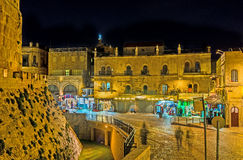 Jerusalém na noite Imagens de Stock Royalty Free