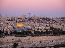 Jerusalém no crepúsculo Imagens de Stock