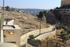 Jerusalém o Monte das Oliveiras Fotografia de Stock Royalty Free