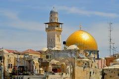 Jerusalén el Golden Dome de la roca Fotos de archivo