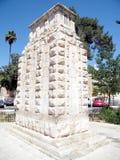 Jerusalén el monumento 2010 de la división de Londres imágenes de archivo libres de regalías