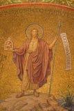 Jerusalén - el mosaico de St John el Bautista en la abadía de Dormition Fotografía de archivo