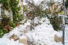Jerusalén en nieve Imagen de archivo libre de regalías