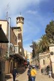 JERUSALÉN, ISRAEL - 27 de febrero de 2017 - vía Dolorosa Imágenes de archivo libres de regalías