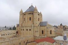 Jerusalén, Israel - 14 de febrero 2017 Iglesia de la basílica del Dormition en el monte Sion Foto de archivo libre de regalías