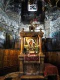 Jerusalén, Israel - 13 de julio de 2015: El chur ortodoxo subterráneo Fotografía de archivo libre de regalías