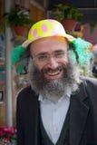 JERUSALÉN, ISRAEL - 15 DE MARZO DE 2006: Carnaval de Purim en el cuarto ultraortodoxo famoso de Jerusalén - Mea Shearim Fotografía de archivo