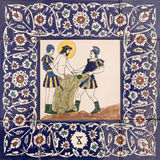 Jerusalén - Jesus Stripped de su ropa estación tejada de cerámica de la manera cruzada en iglesia de anglicanos de San Jorge Fotografía de archivo libre de regalías